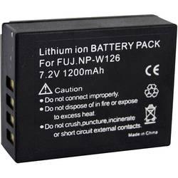 Baterija za kameru Conrad energy zamjenjuje originalnu bateriju NP-W126 7.4 V 1200 mAh