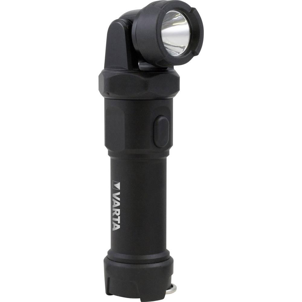 LED žepna luč Varta Indestructible Swivel Light na baterijski pogon 215 lm črne barve