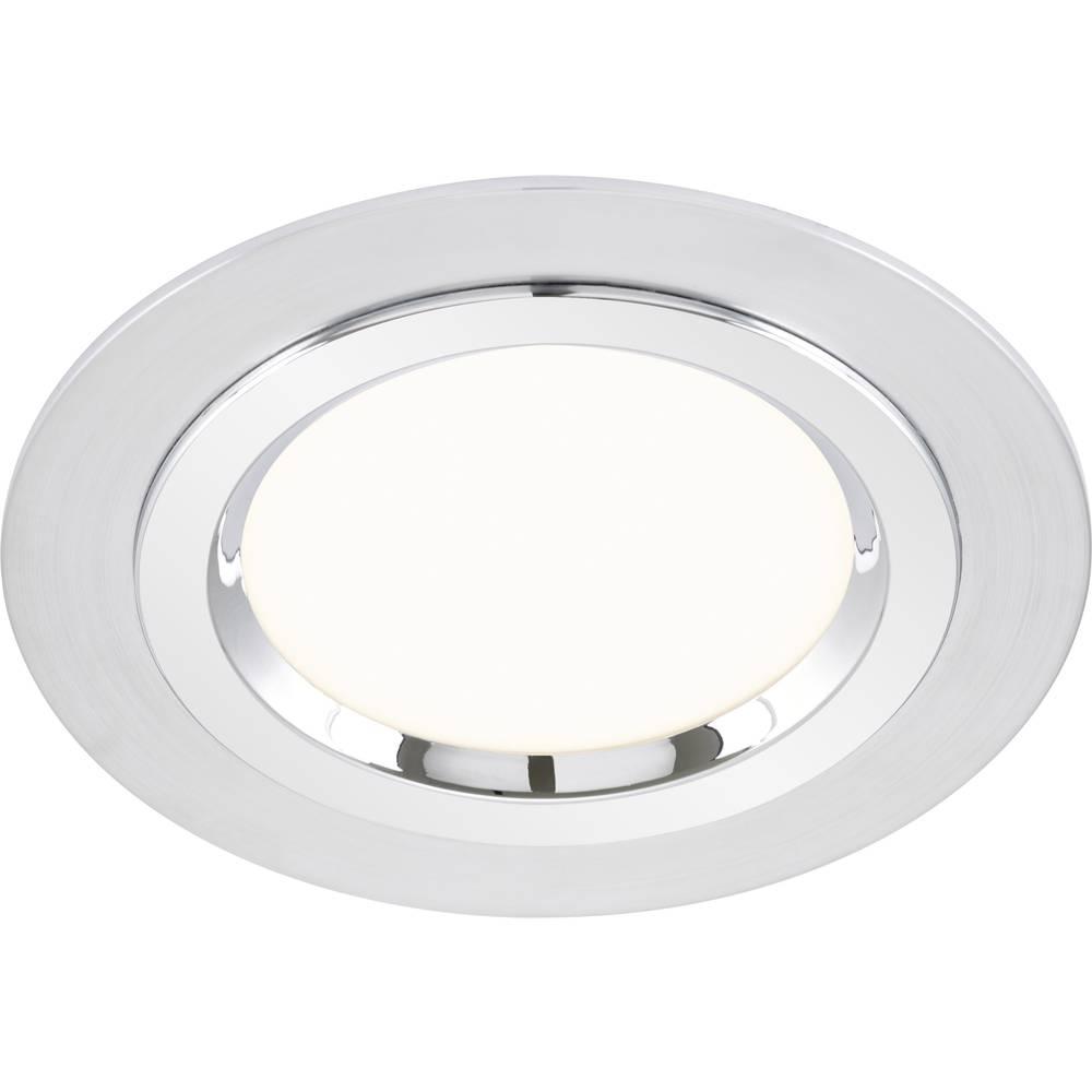 LED-vgradna luč za v kopalnico 12 W toplo-bele barve Briloner 7262-019 iz aluminija, iz kroma