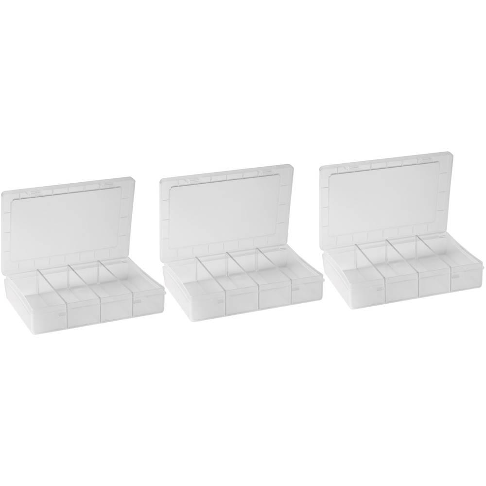 3-dijelni set sortirnih kutija (D x Š x V) 180 x 140 x 40 mm;fiksna podjela br. pretinaca: 1