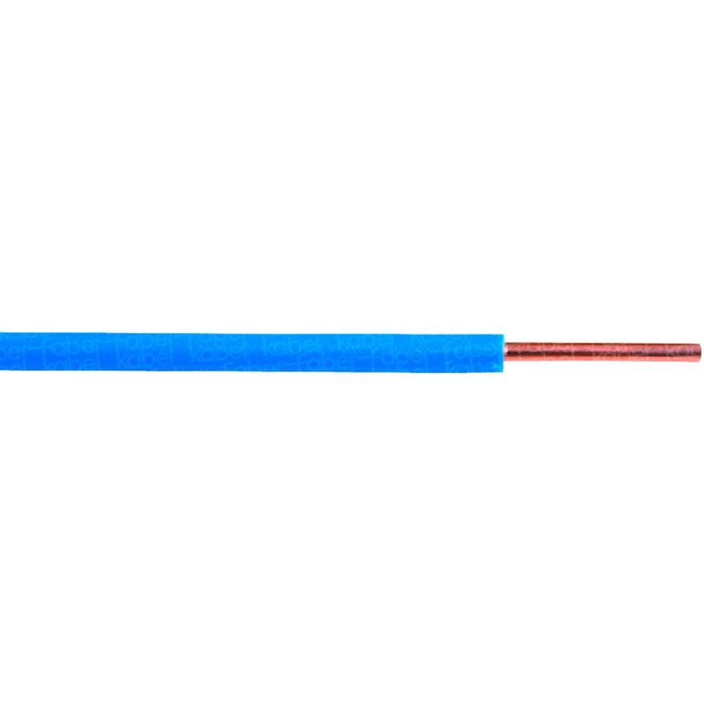 Kopplingstråd H05V-U 1 x 0.75 mm² Ljusblå Faber Kabel 040748 Metervara