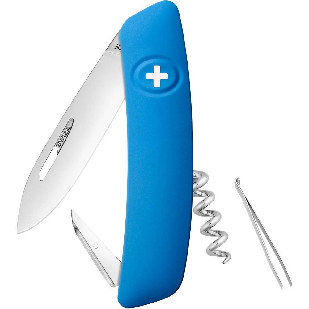 SWIZA D01 KNI.0010.1030 Švicarski žepni nož S soft-touch Število funkcij 6 Modra
