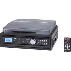 USB-skivspelare LP-skiva, Kassett, Radio, AUX IN Renkforce MT-88WEC Svart