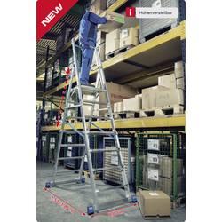Podestna lestev mobilna, delovna višina (maks.): 4.10 m Krause 127624 iz aluminija 22 kg