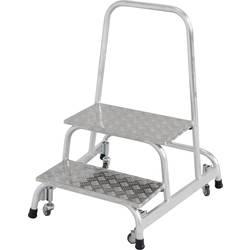 Aluminijasta montažna lestev, delovna višina (maks.): 2.45 m Krause 805485 srebrne barve 7 kg
