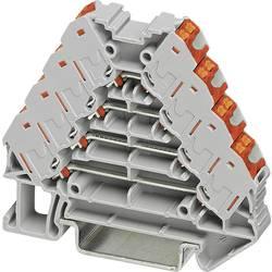 Ranžirni razdjelnik PTRV 4 /RD PTRV 4 /RD Phoenix Contact sive boje, sadržaj: 10 kom.
