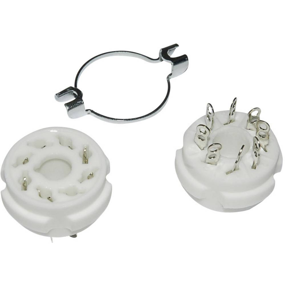Podnožje elektronke 1 kom. 150104 št. polov: 8 podnožje: loktalno vrsta montaže: šasija material: keramika
