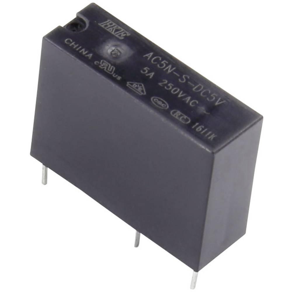 HKE AC5N-S-DC5V rele za tiskano vezje 5 V/DC 5 A 1 zapiralo 1 kos