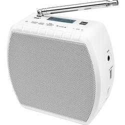 DAB+ radio s priklj. za vtičnico Dual STR 100 DAB+, UKV, Bluetooth, AUX, funkcija polnjenja akum. baterij, bele barve