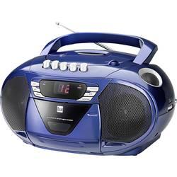 FM CD-radio Dual P 65 FM, AUX, CD, Kassett Blå