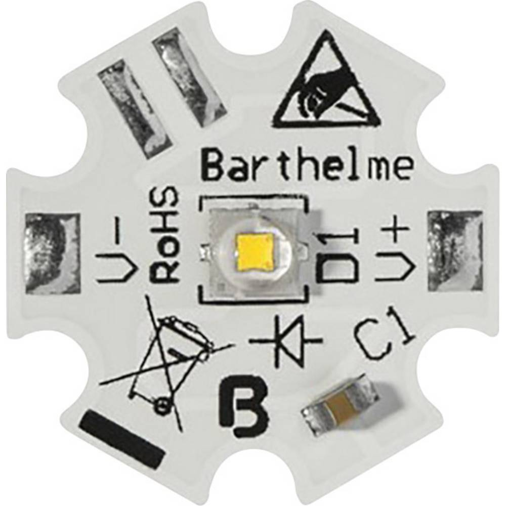 HighPower LED hladno bela 1 W, 2 W, 6 W 140 lm, 255 lm, 505 lm 150 ° 350 mA, 700 mA, 1800 mA Barthelme 61003734