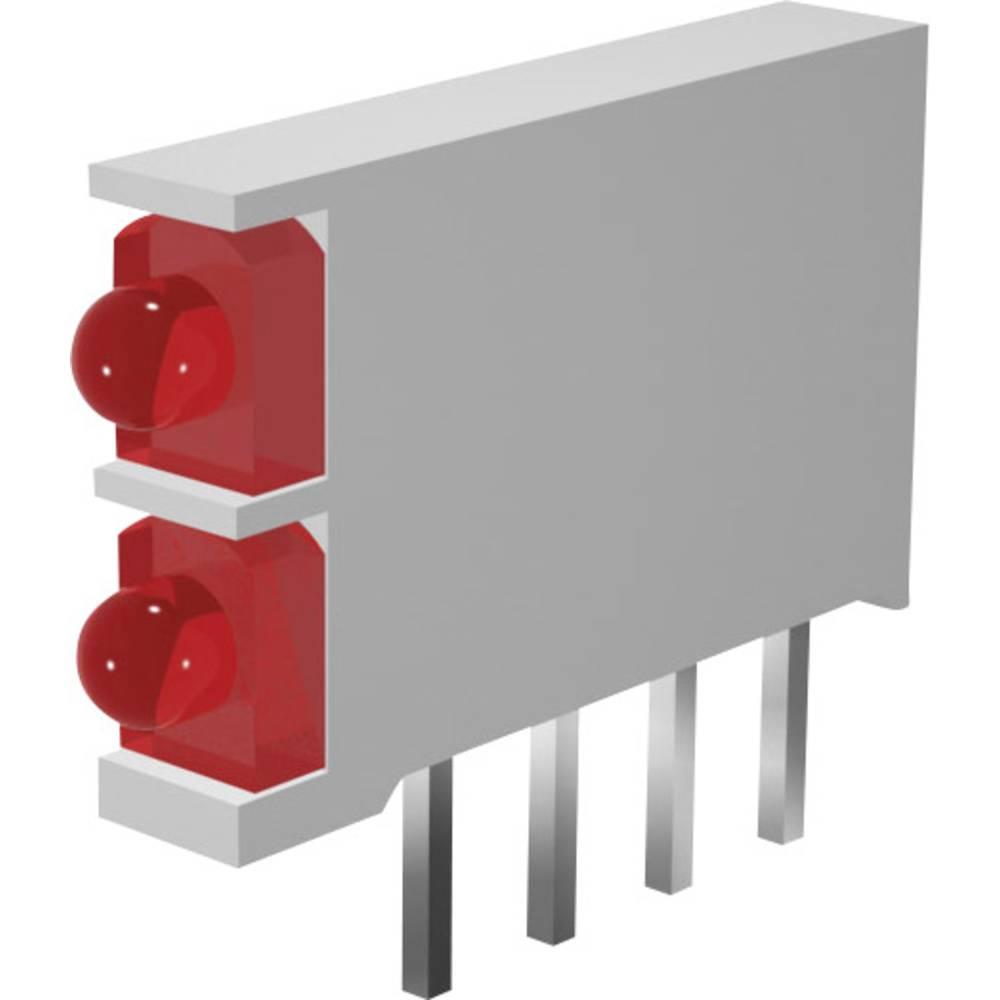 LED modul, 2-dijelni, crvena, crvena (D x Š x V) 15.5 x 2.5 x 12 mm Signal Construct DBI01300