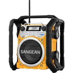 FM Byggradio Sangean U4 AUX, Bluetooth, MW, NFC, FM Gul