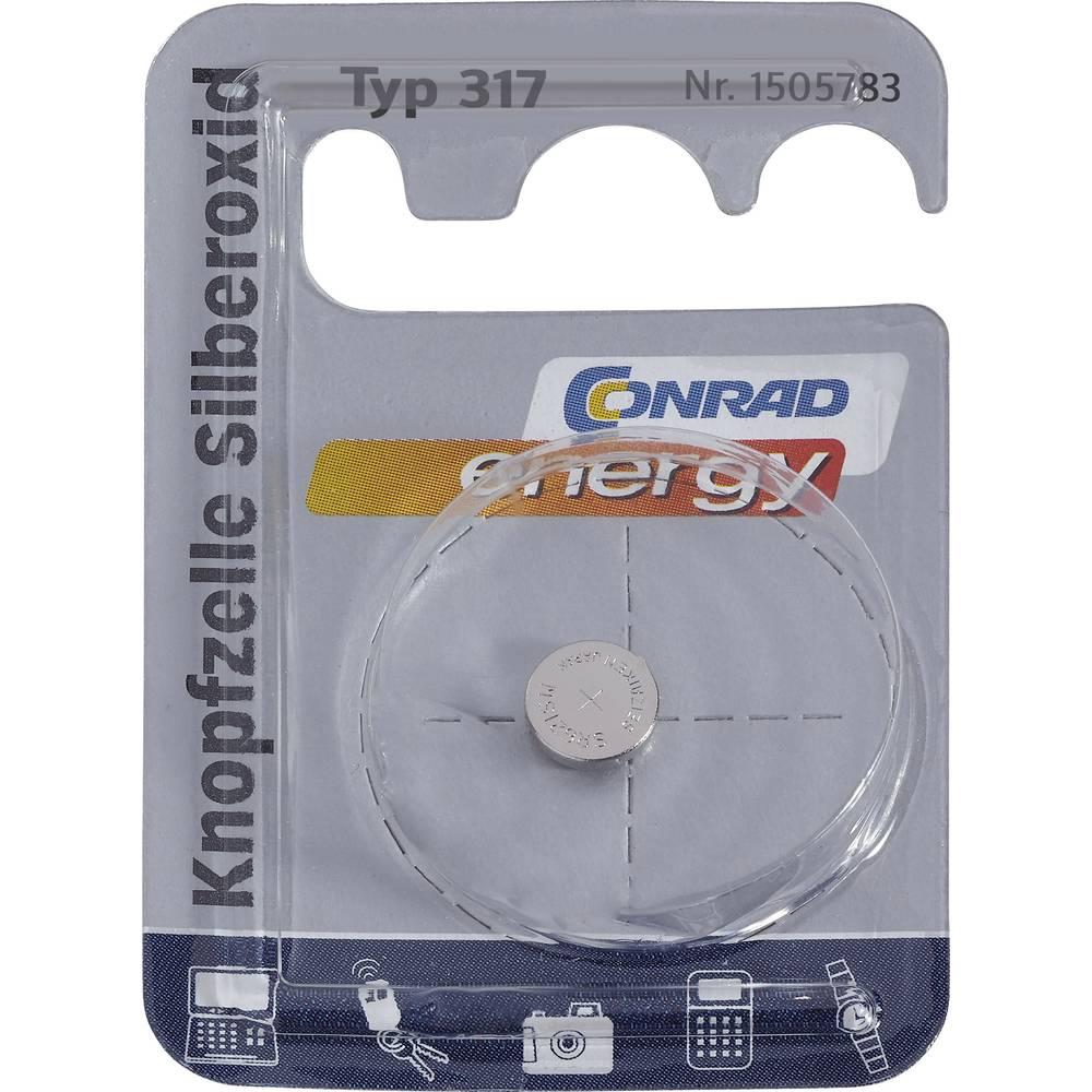 Gumbna baterija 317 srebrov-oksid Conrad energy SR62 10.5 mAh 1.55 V 1 kos