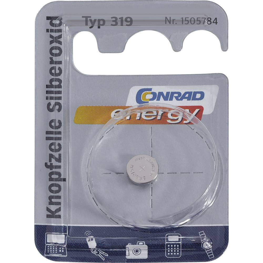 Gumbna baterija 319 srebrov-oksid Conrad energy SR64 21 mAh 1.55 V 1 kos