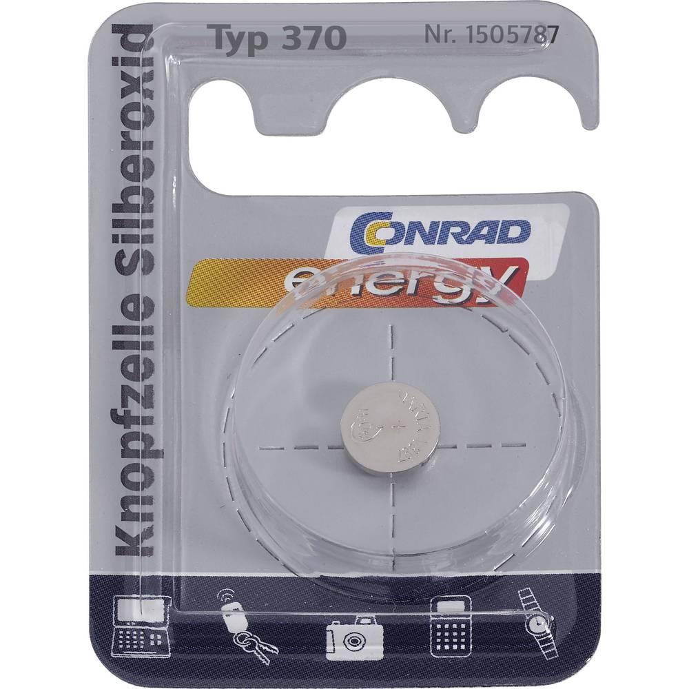 Gumbna baterija 370 srebrov-oksid Conrad energy SR69 40 mAh 1.55 V 1 kos