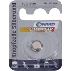 Gumbna baterija 399 srebrov-oksid Conrad energy SR57 53 mAh 1.55 V 1 kos