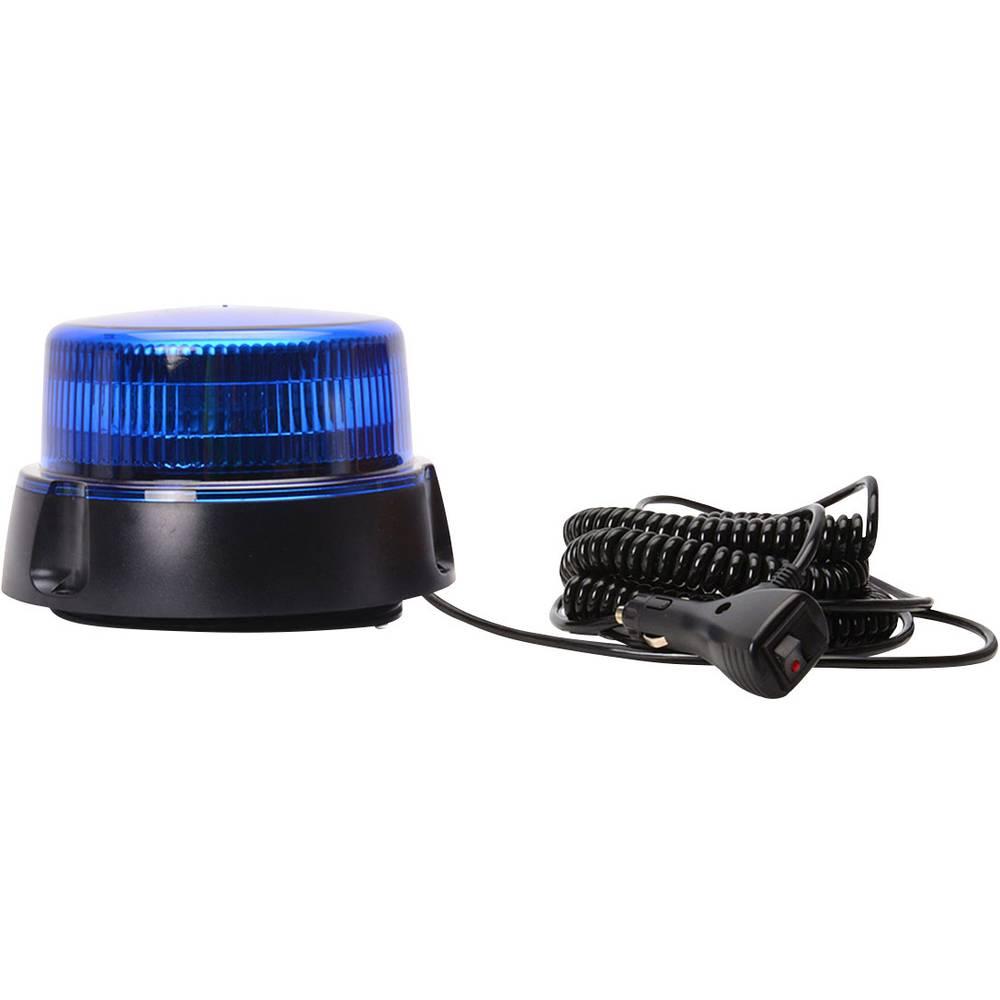 WAS rotacijska luč W112 853.2 12 V, 24 V magnetno podnožje, prisesno podnožje, vijačna pritrditev modre barve
