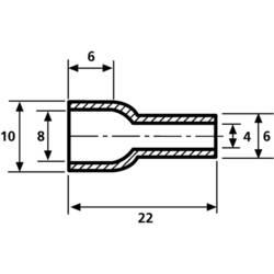 Skyddskåpa HellermannTyton HV4824 PVC-FR BK 2000 Kläm-Ø (max.) 8 mm PVC Svart 1 st