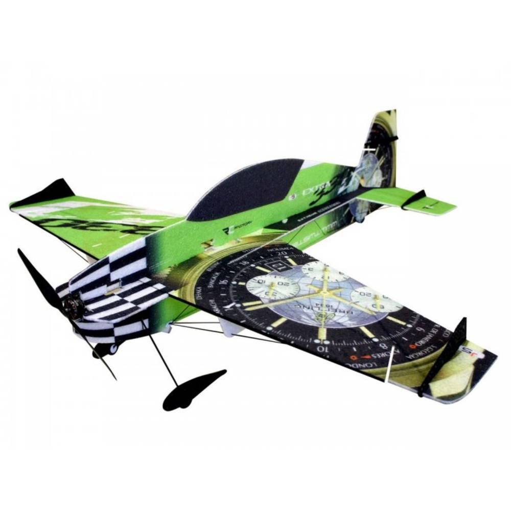 RC Factory Extra 330 Superlite Zelena RC mini model letal za uporabo v zaprtem prostoru Komplet za sestavljanje 840 mm