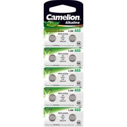 Gumbna baterija LR 63 alkalij-mangan Camelion AG0 10 mAh 1.5 V 10 kosov