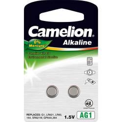 Gumbna baterija LR 60 alkalij-mangan Camelion AG1 14 mAh 1.5 V 2 kosa