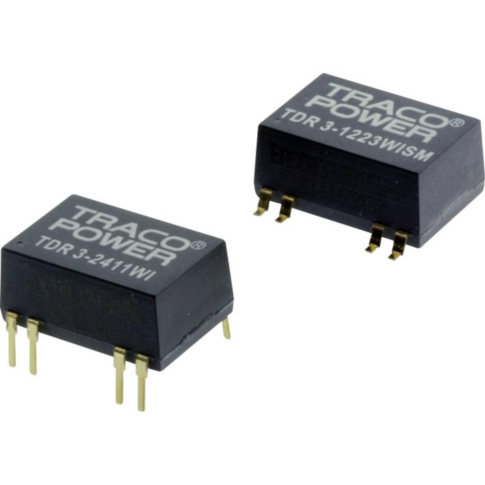 DC/DC pretvornik za tiskano vezje TracoPower TDR 3-1223WISM 12 V/DC 100 mA 3 W št. izhodov: 2 x