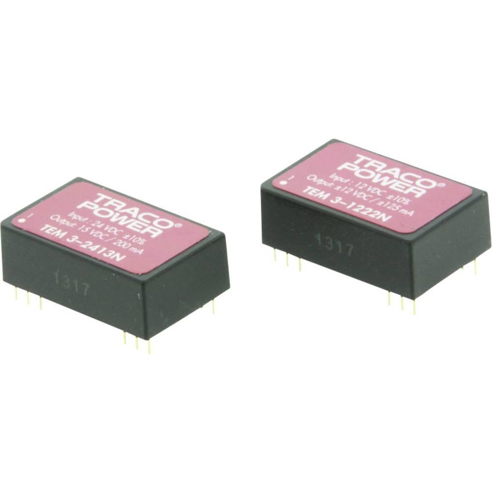 DC/DC pretvornik za tiskano vezje TracoPower TEM 3-1222N 12 V/DC 125 mA 3 W št. izhodov: 2 x