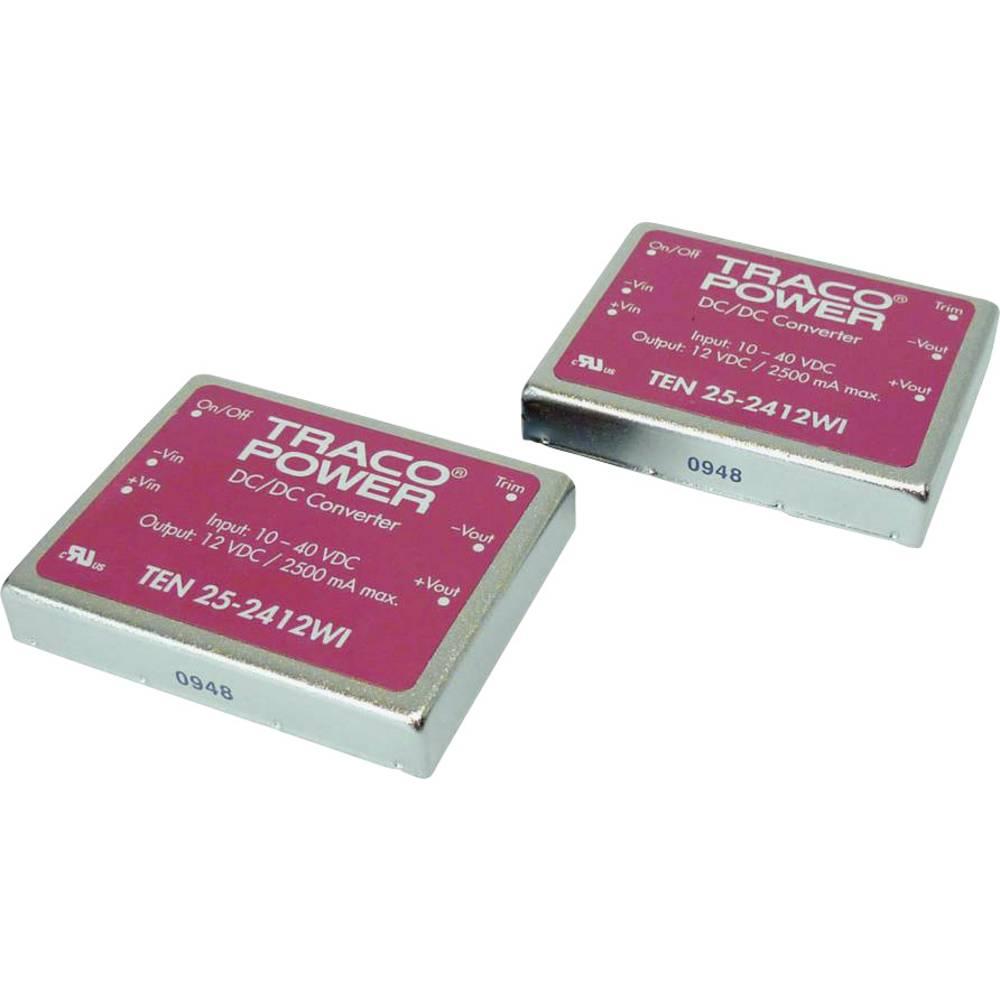 DC/DC pretvornik za tiskano vezje TracoPower TEN 25-2412WI 24 V/DC 2500 mA 25 W št. izhodov: 1 x