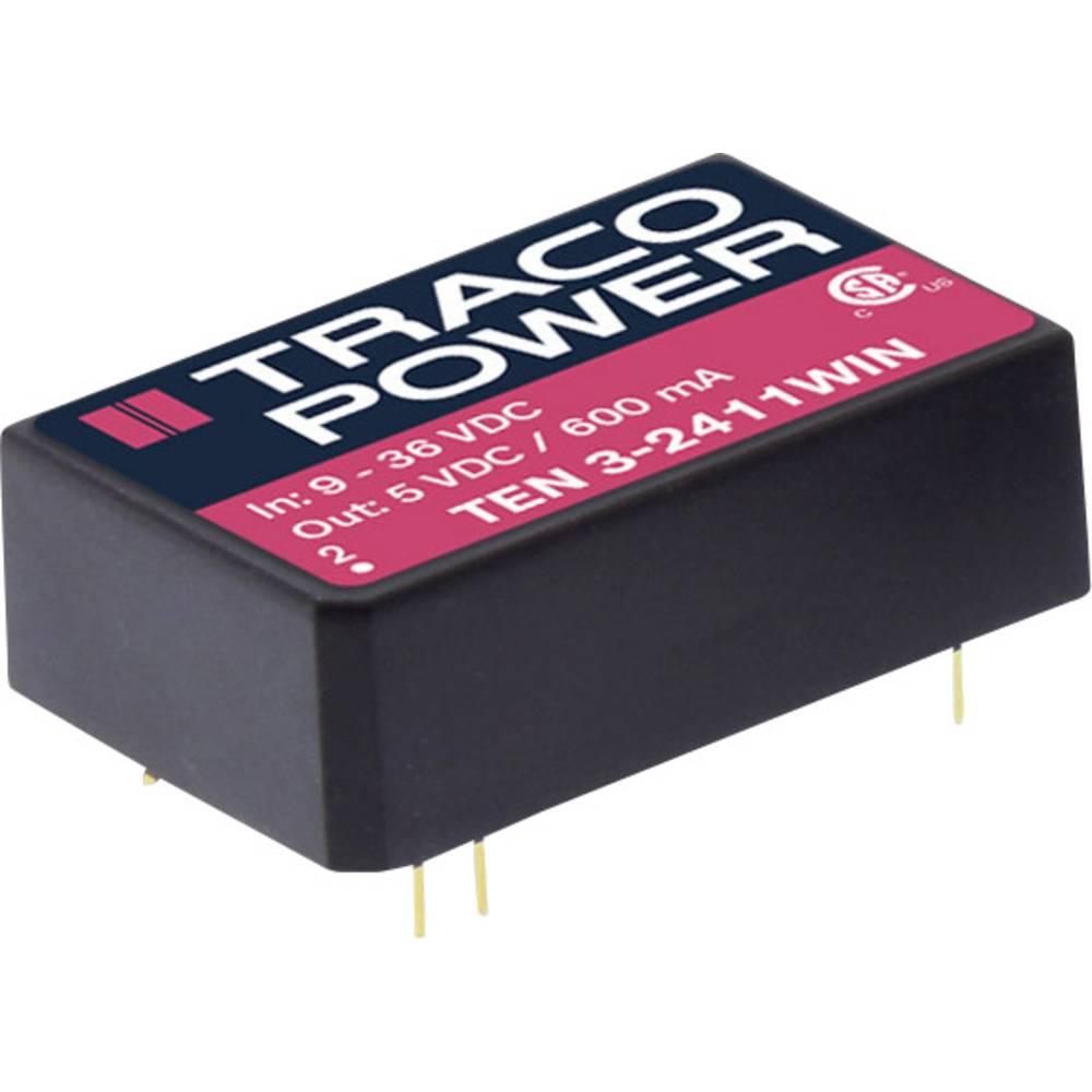 DC/DC pretvornik za tiskano vezje TracoPower TEN 3-4811WIN-HI 48 V/DC 500 mA 3 W št. izhodov: 1 x