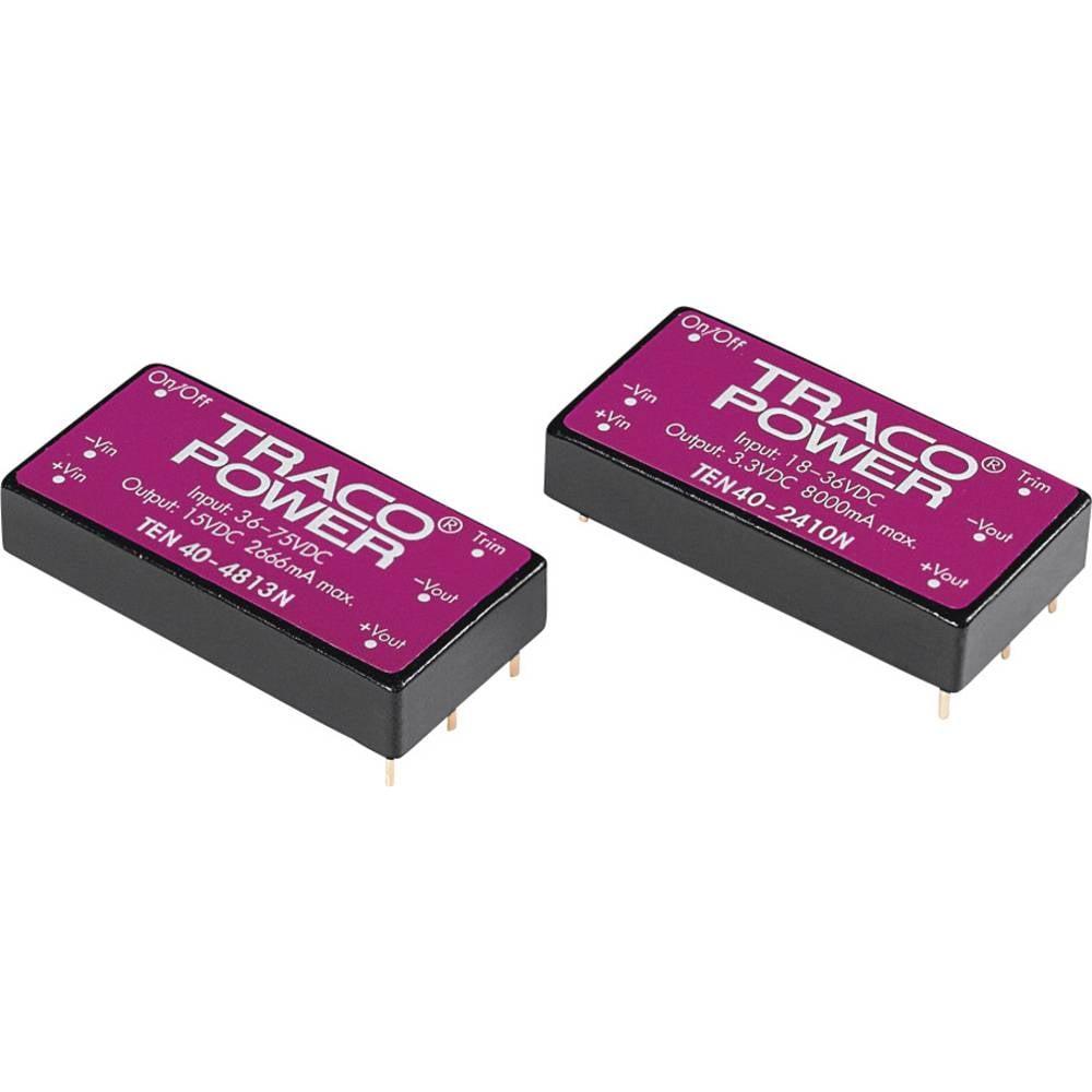 DC/DC pretvornik za tiskano vezje TracoPower TEN 40-1215N 12 V/DC 1670 mA 40 W št. izhodov: 1 x
