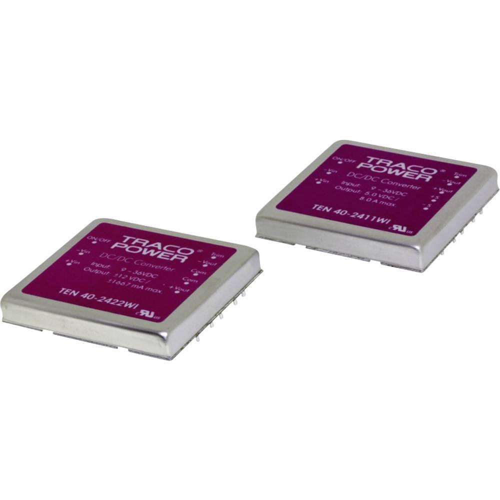 DC/DC pretvornik za tiskano vezje TracoPower TEN 40-4813WI 48 V/DC 2665 mA 40 W št. izhodov: 1 x