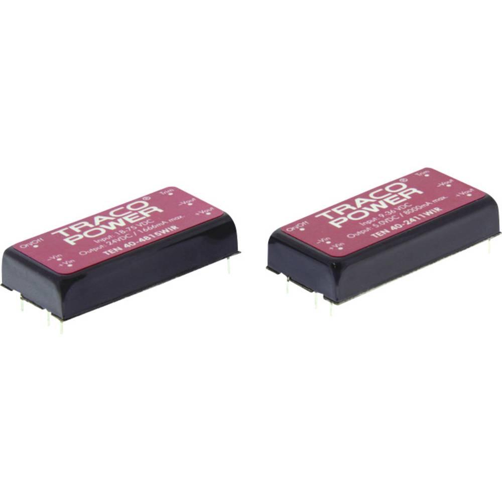 DC/DC pretvornik za tiskano vezje TracoPower TEN 40-2425WIR 48 V/DC 833 mA 40 W št. izhodov: 2 x