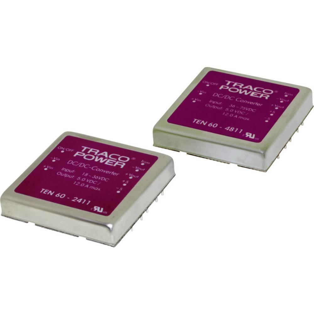DC/DC pretvornik za tiskano vezje TracoPower TEN 60-4812 48 V/DC 5000 mA 60 W št. izhodov: 1 x
