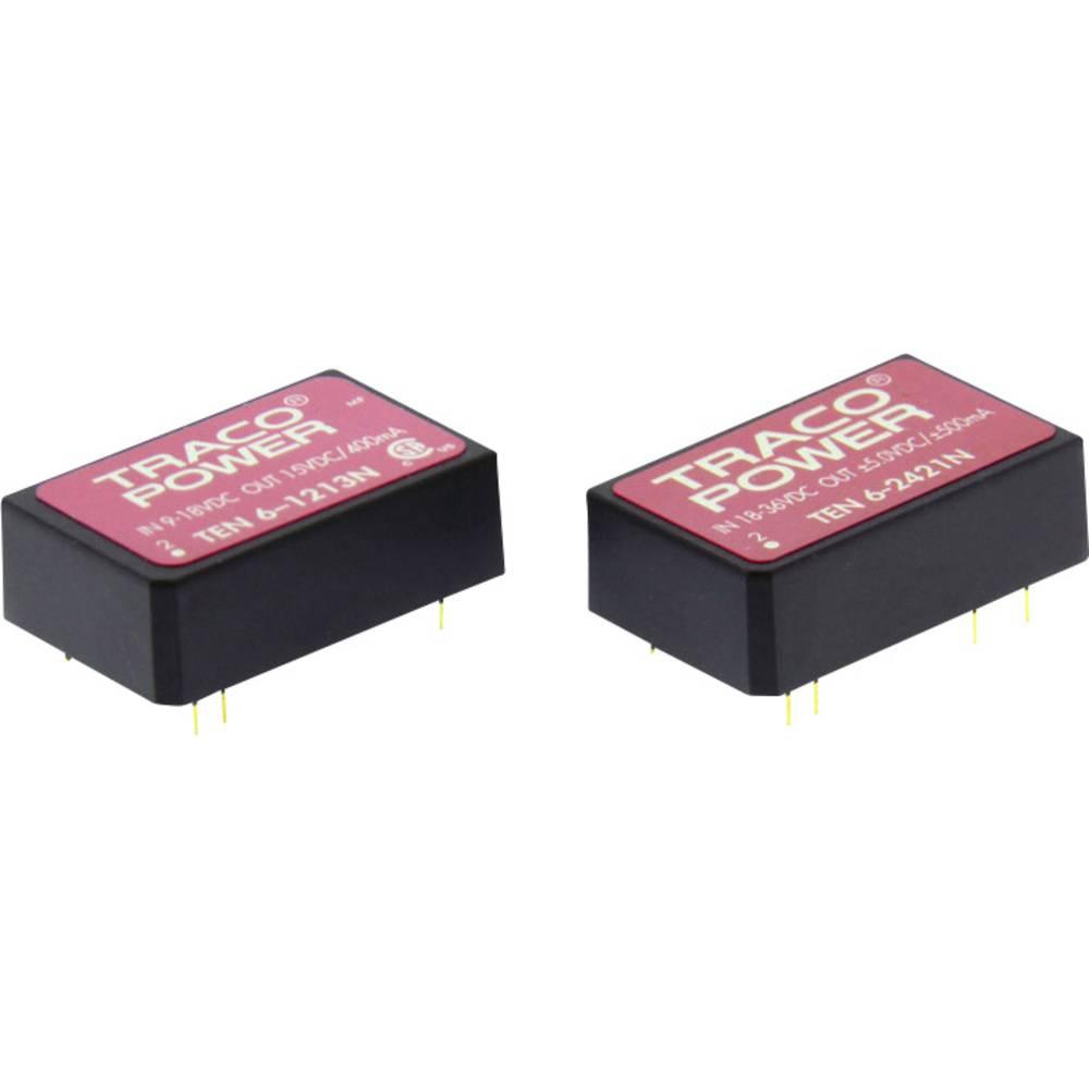 DC/DC pretvornik za tiskano vezje TracoPower TEN 6-1223N 12 V/DC 200 mA 6 W št. izhodov: 2 x