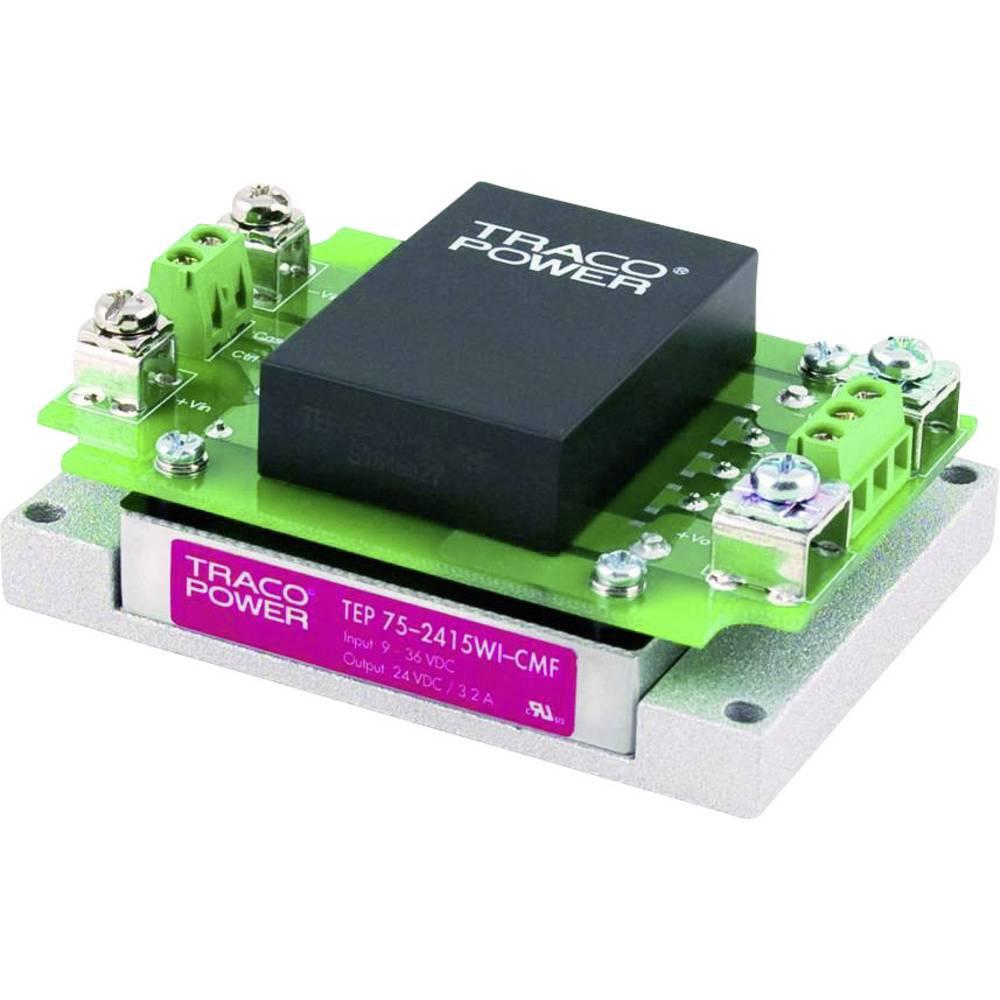 DC/DC pretvornik-modul TracoPower TEP 75-2415WI-CMF 24 V/DC 3200 mA 75 W št. izhodov: 1 x