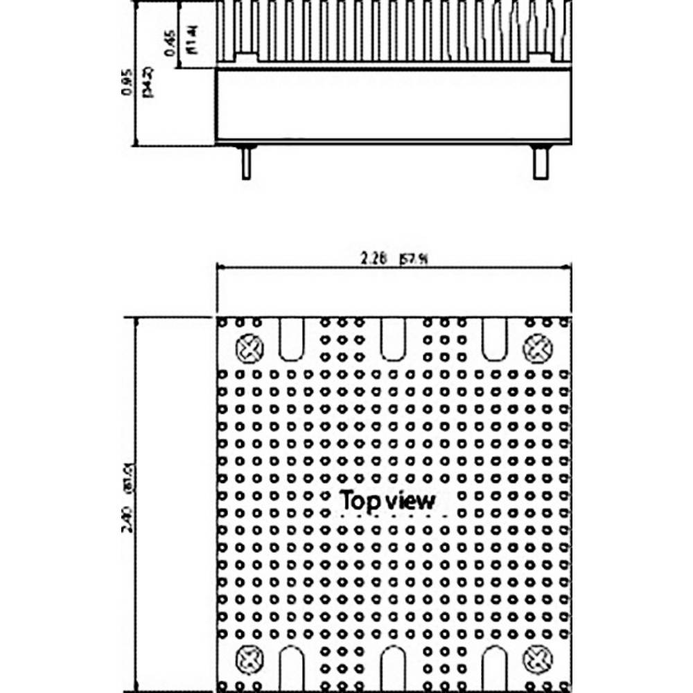 Objemka za DIN letev TracoPower TEP-MK1