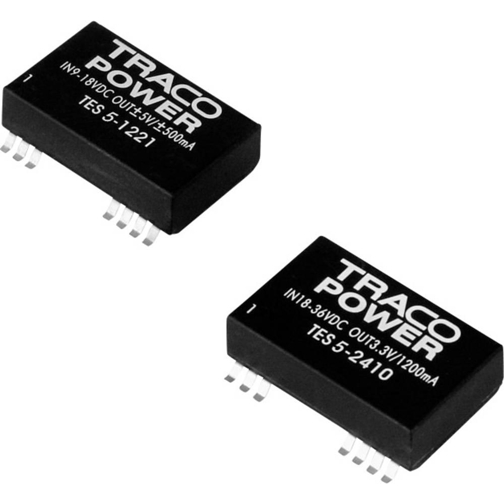 DC/DC pretvornik SMD TracoPower TES 5-1222 12 V/DC 125 mA 5 W št. izhodov: 2 x