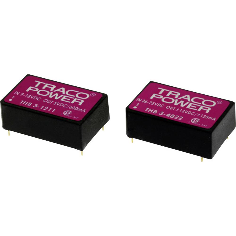 DC/DC pretvornik za tiskano vezje TracoPower THB 3-4812 12 V/DC 250 mA 3 W št. izhodov: 1 x