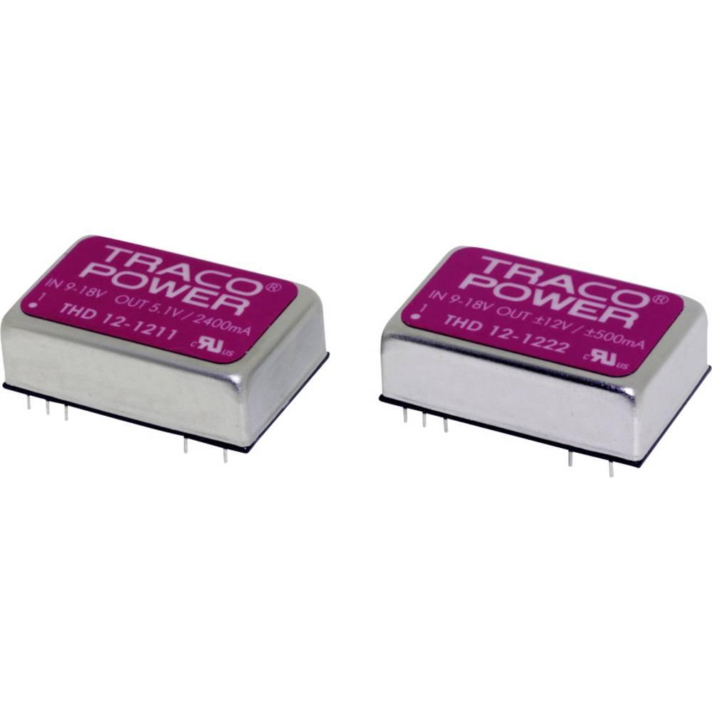 DC/DC pretvornik za tiskano vezje TracoPower THD 12-1211 12 V/DC 2400 mA 12 W št. izhodov: 1 x