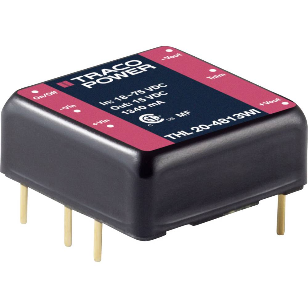 DC/DC pretvornik za tiskano vezje TracoPower THL 20-4811WI 48 V/DC 4000 mA 20 W št. izhodov: 1 x