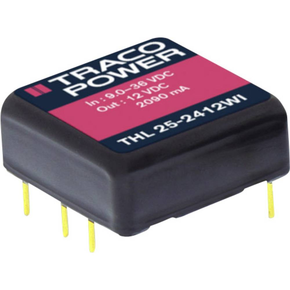DC/DC pretvornik za tiskano vezje TracoPower THL 25-4810WI 48 V/DC 6000 mA 25 W št. izhodov: 1 x