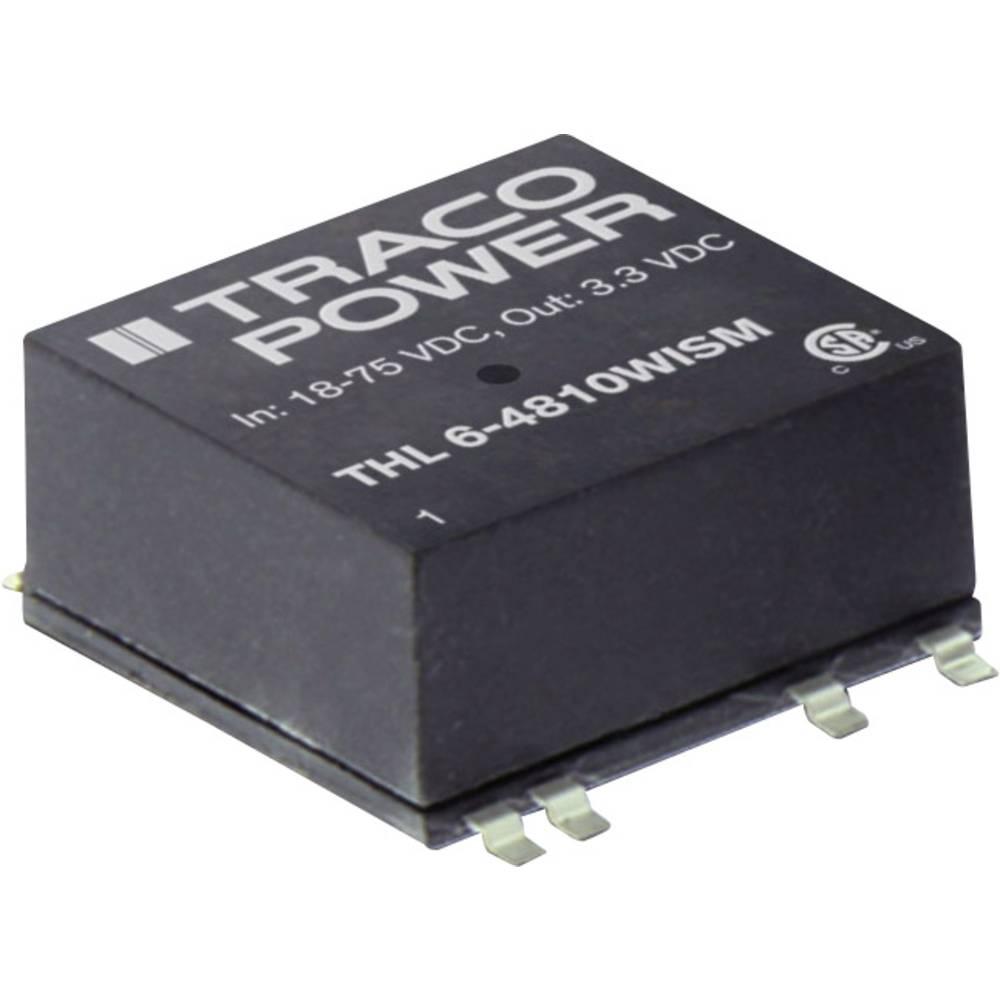 DC/DC pretvornik SMD TracoPower THL 6-4813WISM 48 V/DC 400 mA 6 W št. izhodov: 1 x