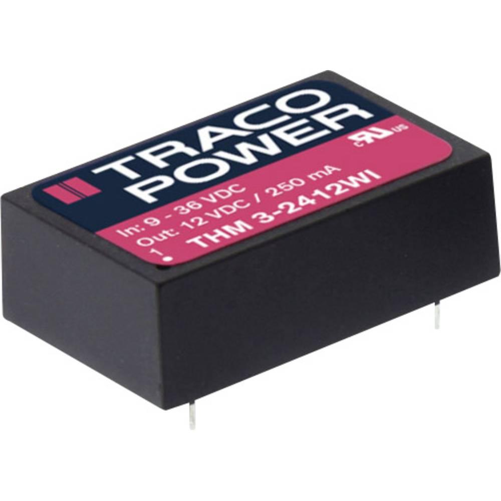 DC/DC pretvornik za tiskano vezje TracoPower THM 3-2423WI 12 V/DC 100 mA 3 W št. izhodov: 2 x