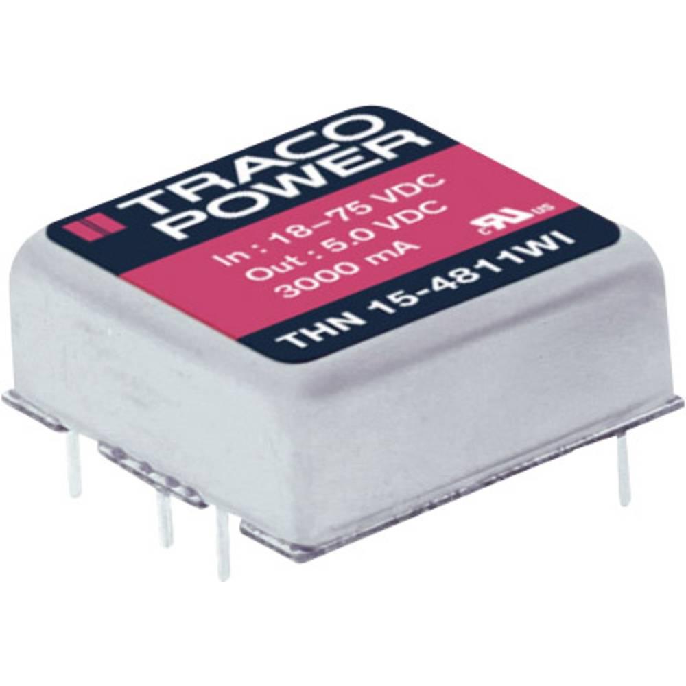 DC/DC pretvornik za tiskano vezje TracoPower THN 15-2425WI 24 V/DC 315 mA 15 W št. izhodov: 2 x