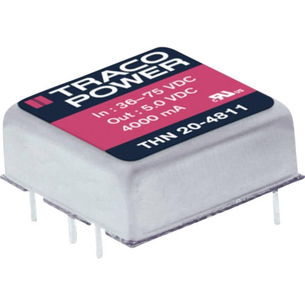 DC/DC pretvornik za tiskano vezje TracoPower THN 20-4812 48 V/DC 1670 mA 20 W št. izhodov: 1 x