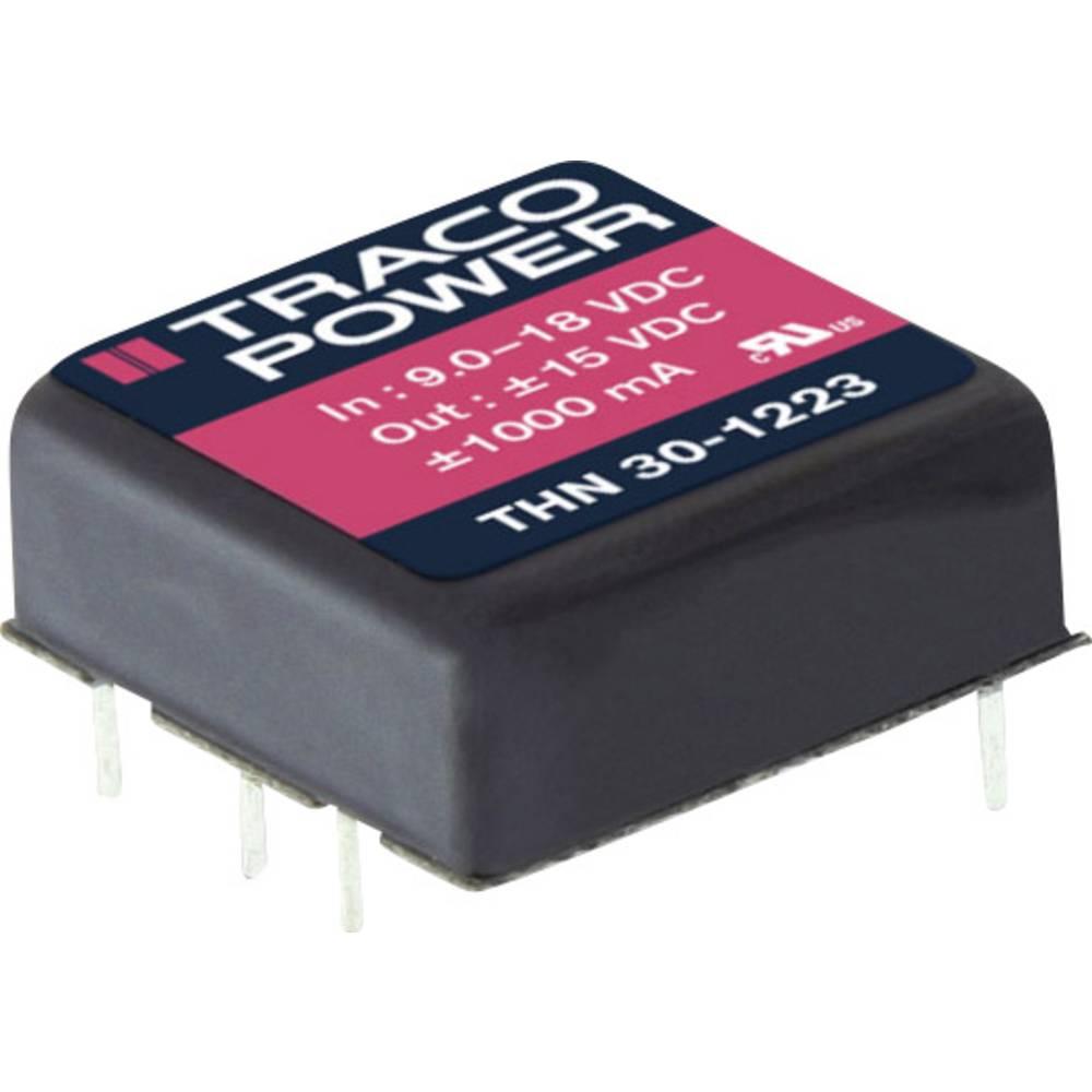 DC/DC pretvornik za tiskano vezje TracoPower THN 30-4822 48 V/DC 1250 mA 30 W št. izhodov: 2 x