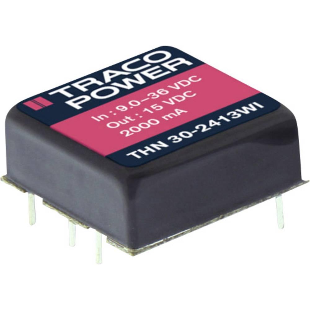 DC/DC pretvornik za tiskano vezje TracoPower THN 30-2425WI 24 V/DC 625 mA 30 W št. izhodov: 2 x