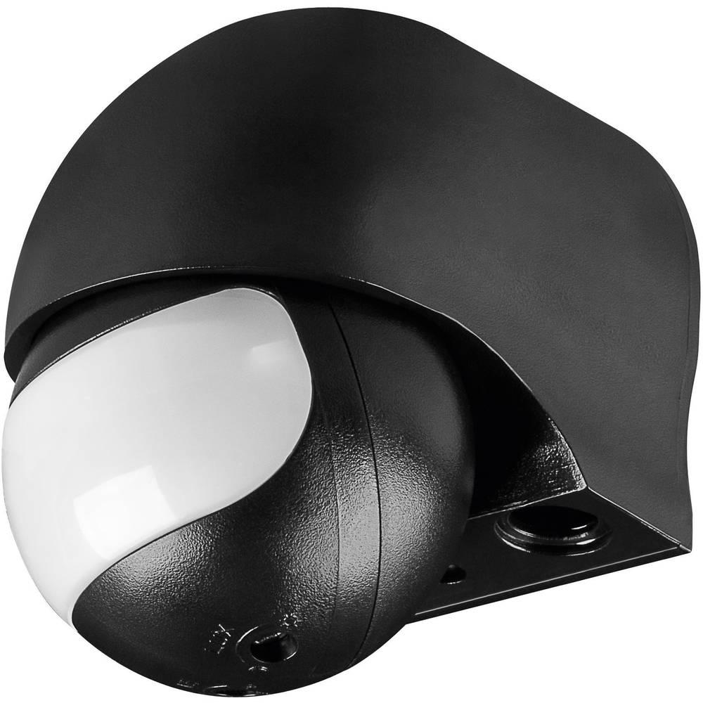 Podometni PIR-senzor gibanja Goobay 96000 180 ° rele črne barve IP44