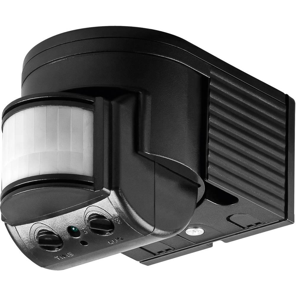 Podometni PIR-senzor gibanja Goobay 96001 180 ° rele črne barve IP44